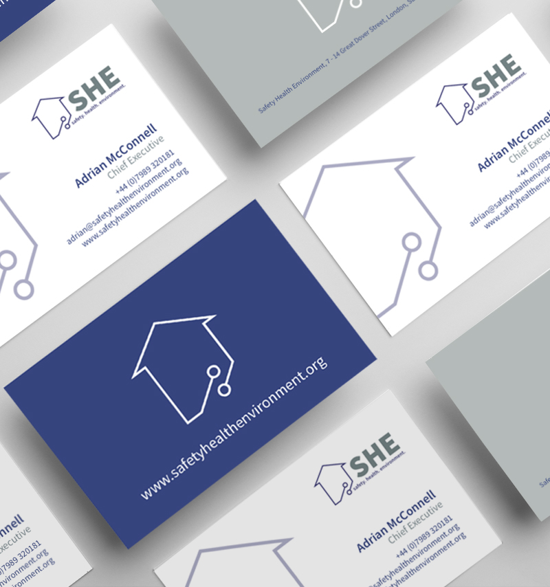 Safety Health Environment business cards