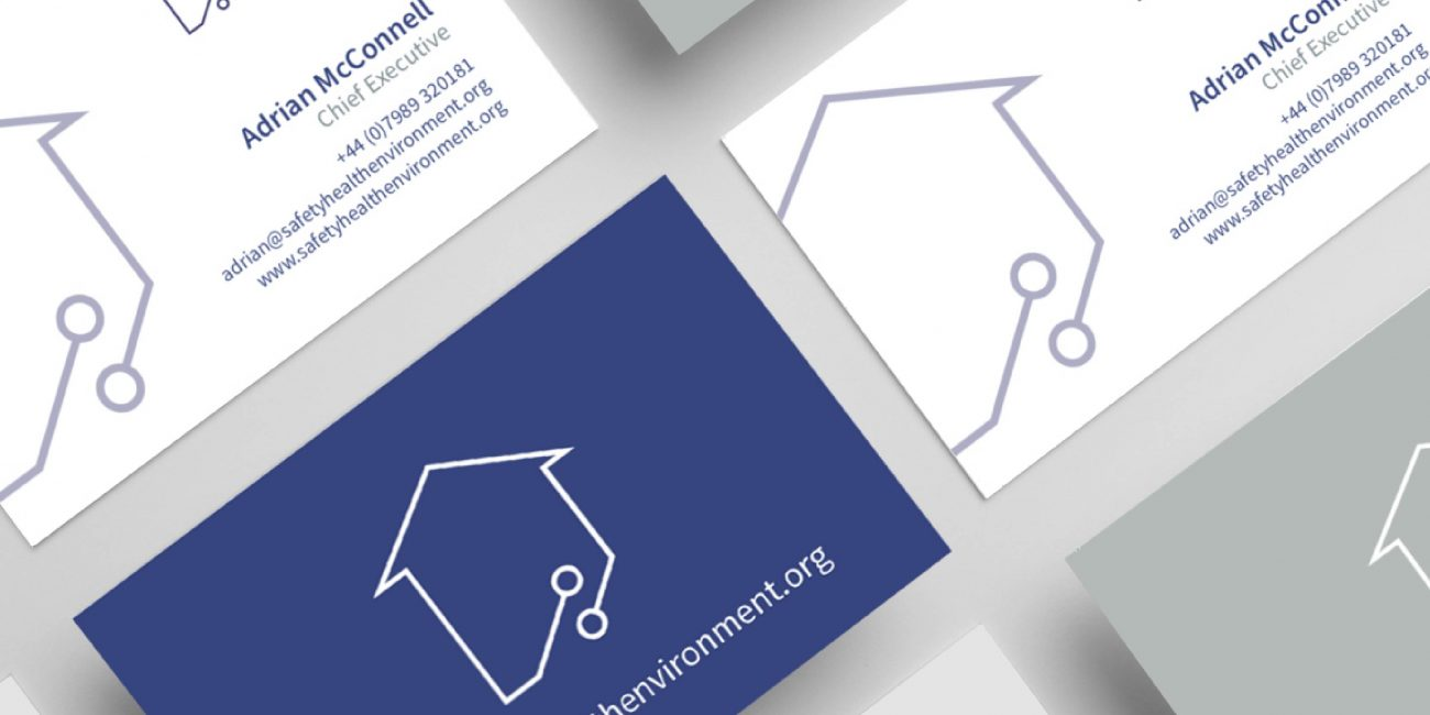 Safety Health Environment business cards design