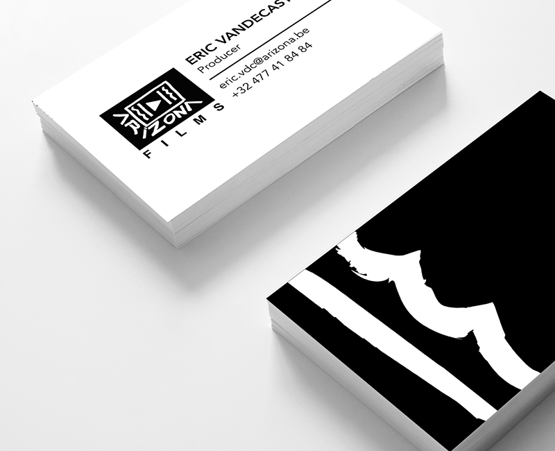 arizona films business cards designed by visually thinking
